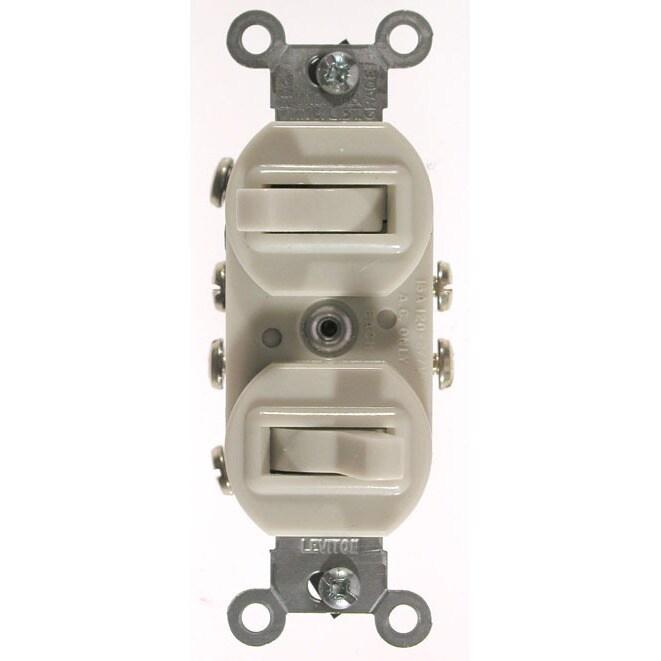Leviton 031-5243-I Ivory Commercial Grade 3-Way AC Combin...