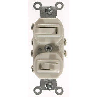 Leviton 031-5243-I Ivory Commercial Grade 3-Way AC Combination Switch Toggle