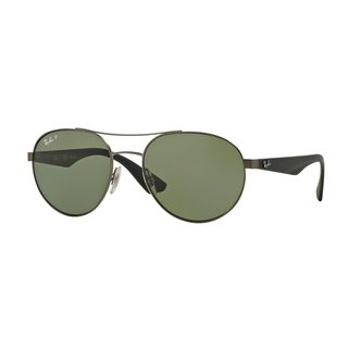 Ray-Ban Men's RB3536 029/9A Silver Metal Phantos Polarized Sunglasses