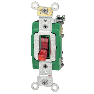 Leviton 113-3032-PLR 30 Amp 120 Volt Red Toggle Light Switch