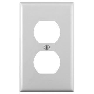 Leviton 122-80703-00W White Single Duplex Single Gang Commerical Grade Wallplate