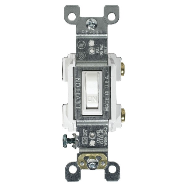 Leviton 205-RS115-WCP 15 Amp White Single Pole Toggle Switch - Free ...