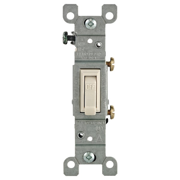 Leviton 208-01451-02T Light Almond 15 Amp Quiet Switch - Free ...