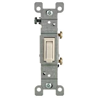 Leviton 208-01451-02T Light Almond 15 Amp Quiet Switch