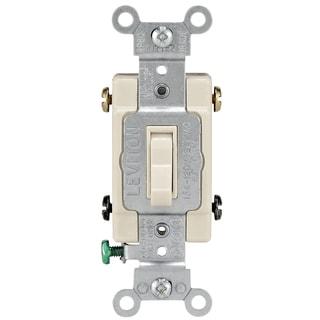 Leviton 214-54504-02T Light Almond 15 Amp 4 Way Quiet Switch