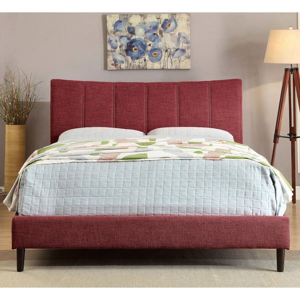 Furniture of america mistelle contemporary linen like for Furniture of america king bed