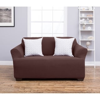 Amilio Collection Heavyweight Stretch Loveseat Slipcover