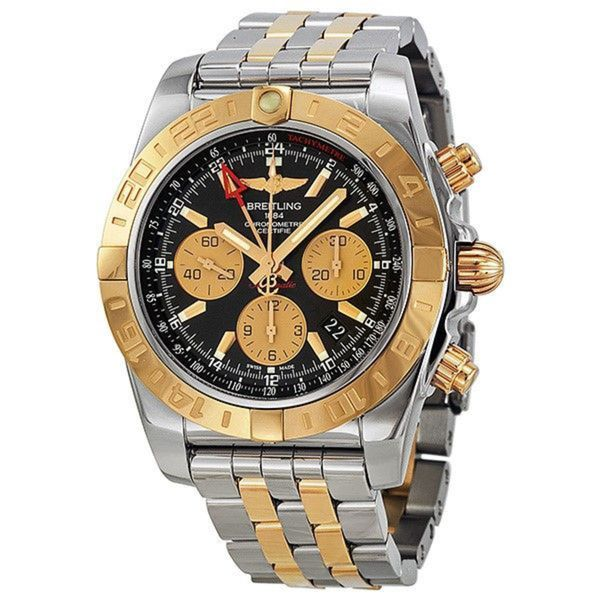 Breitling Men's CB042012-BB86 'Chronomat 44 GMT' 18kt Rose Gold Chronograph Automatic Two-Tone Stainless Steel Watch. Opens flyout.