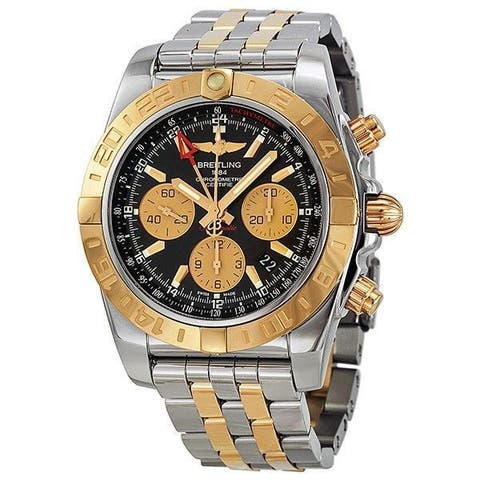 Breitling Men's CB042012-BB86 'Chronomat 44 GMT' 18kt Rose Gold Chronograph Automatic Two-Tone Stainless Steel Watch