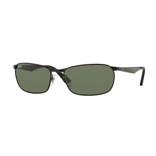 Ray-Ban Men's RB3534 002 Black Metal Pillow Sunglasses 59mm