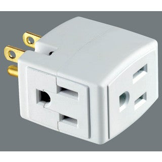 Leviton C22-00692-00W Plug-In Outlet Adapter Single To Triple Tap