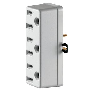 Leviton C22-00698-00W White Triple Tap Plug-In Outlet Adapter