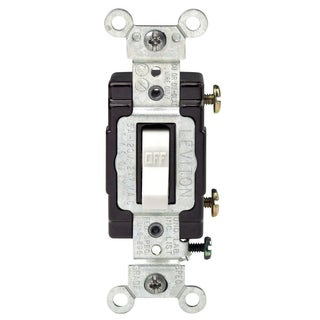 Leviton C22-05501-LHW 15 Amp White Wired Light Toggle Switch