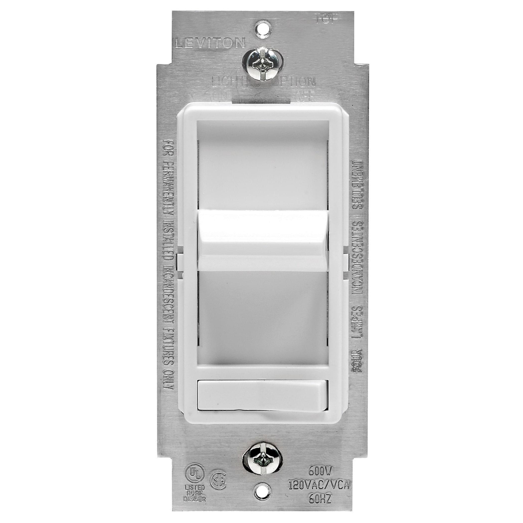 Leviton C22-06615-POW White Low Volt Electric Dimmer (Swi...