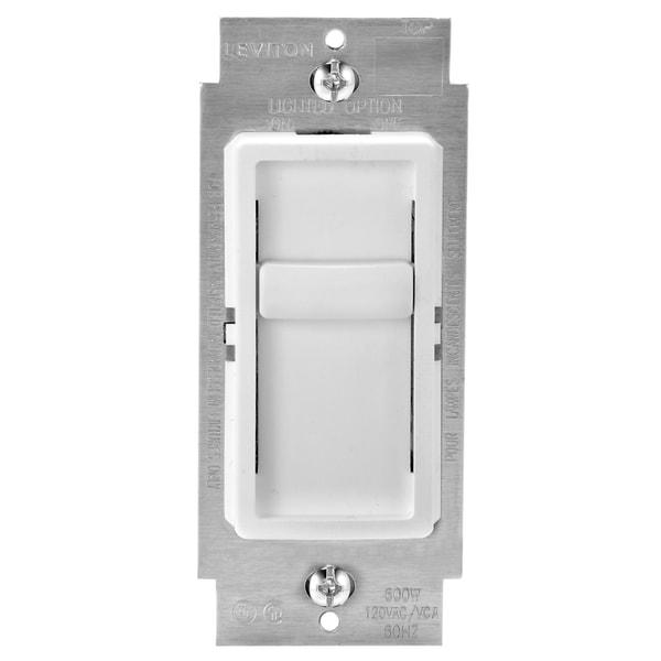 Shop Leviton C22-06672-1LW White Universal Single Pole Dimmer - Free ...