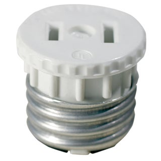 Leviton C22-125-000 White Adapter Socket To Outlet 2-count