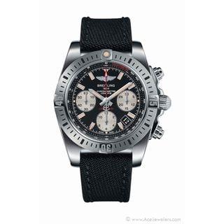Breitling Men's AB01442J-BD26MS 'Chronomat 41 Airborne' Chronograph Automatic Black Canvas Watch