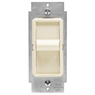 Leviton C26-06631-1LT Light Almond Decora Slide Dimmer Switch & Wall Plate