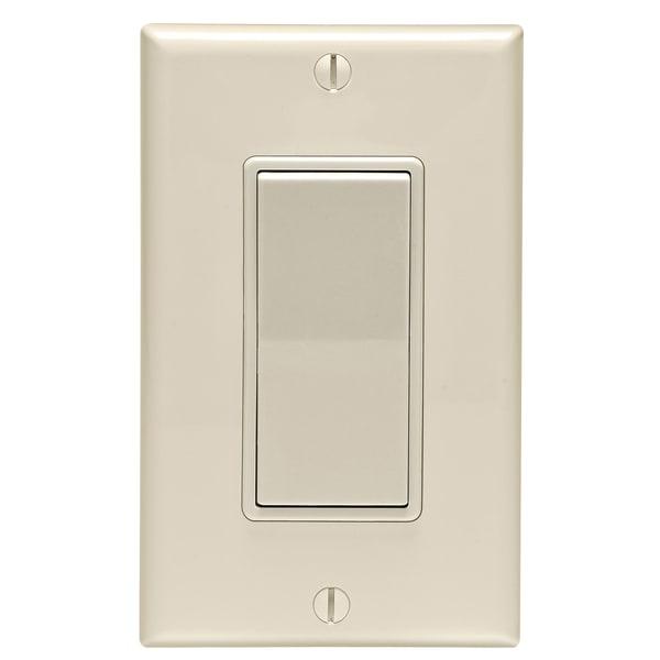 Shop Leviton C36-05671-02T 15 Amp Light Almond Rocker Switch Single ...