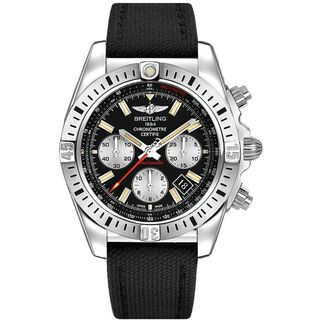 Breitling Men's AB01154G-BD13MS 'Chronomat 44 Airborn' Chronograph Automatic Black Canvas Watch