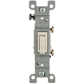 Leviton M26-01451-2TM Light Almond 15 Amp Toggle Switches 10-count