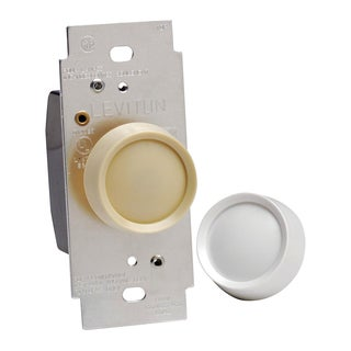 Leviton C40-06681-0IW White & Ivory Push On Incandescent Dimmer