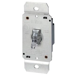 Leviton L00-06693-000 600 Watt Clear 3-Way Illuminated Toggle Dimmer