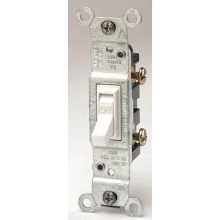 Leviton M24-01451-2WM White Residential Grade AC Quiet Switches Toggle 10 Pack