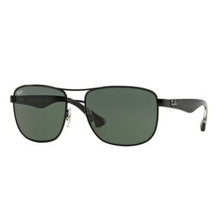 Ray-Ban Men's RB3533 Black Metal Square Sunglasses