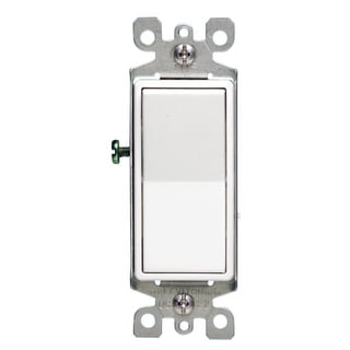 Leviton M42-05603-2WM 15 Amp White 3-Way Light Switch 5-count