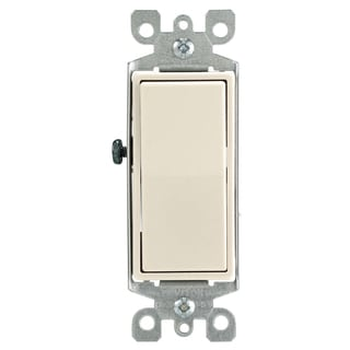 Leviton M46-05603-2TM 15 Amp Light Almond 3-Way Light Switch 5-count