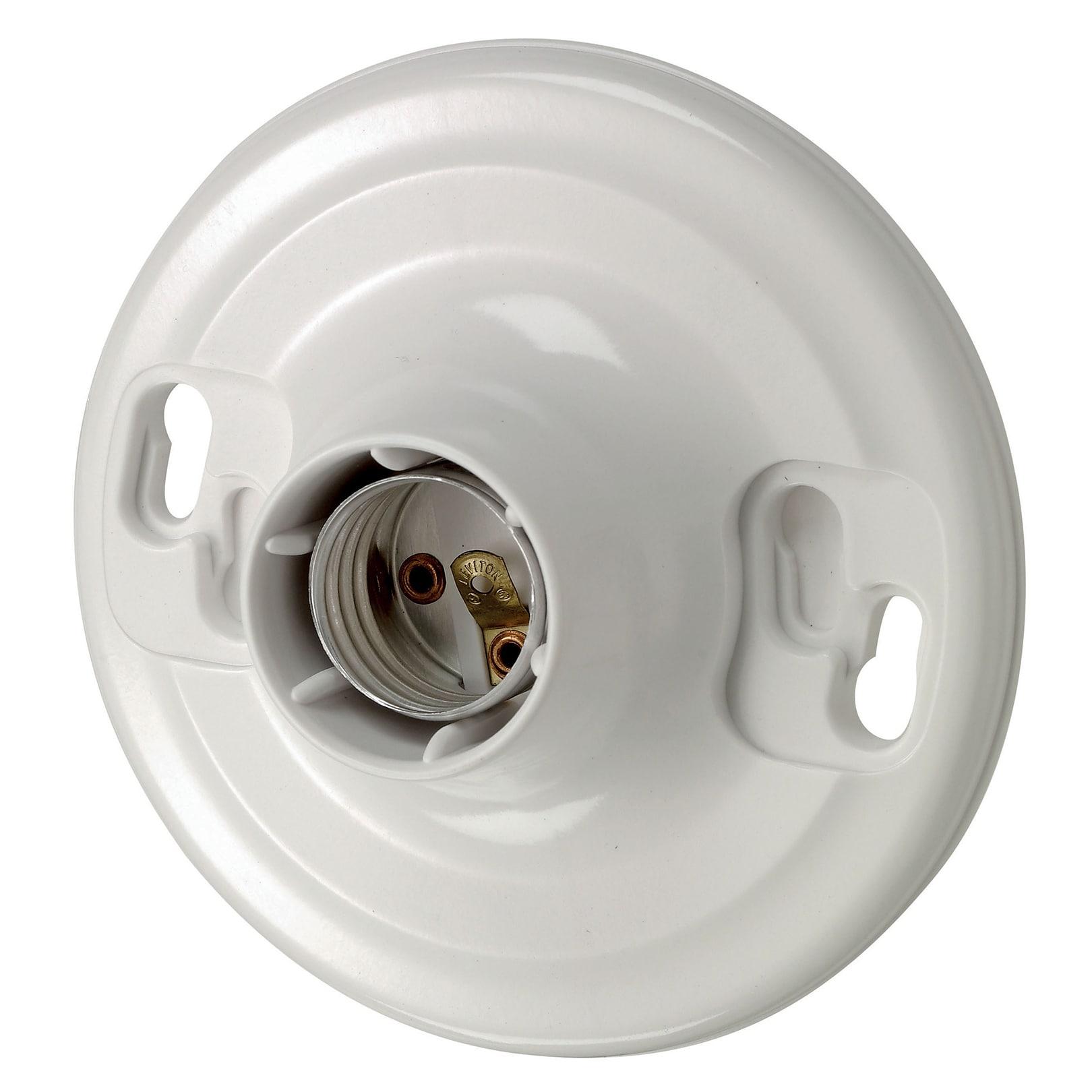 Leviton R50-08829-CW4 White Lampholder Outlet Box (Switch...