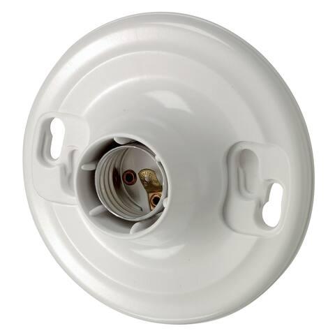 Leviton R50-08829-CW4 White Lampholder Outlet Box