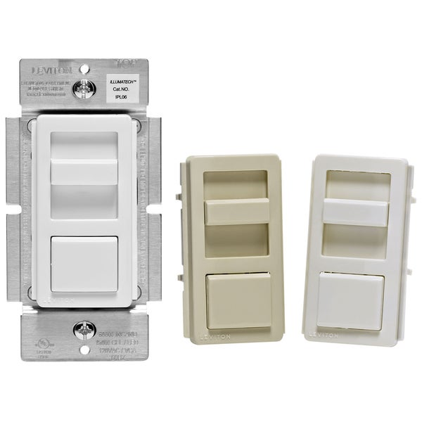 Leviton R50-IPL06-10M Preset Single Pole Slide Dimmer Pack 3-count. Opens flyout.