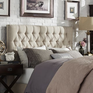 Knightsbridge Tufted Nailhead Chesterfield Queen Headboard by SIGNAL HILLS