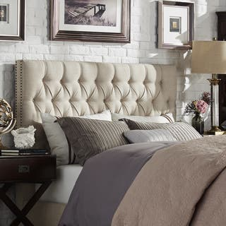 Knightsbridge Tufted Nailhead Chesterfield Headboard by iNSPIRE Q Artisan|https://ak1.ostkcdn.com/images/products/12370840/P19196118.jpg?impolicy=medium