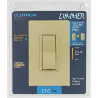 Lutron DVW603PH-WH White Diva 3-Way Duo Dimmers