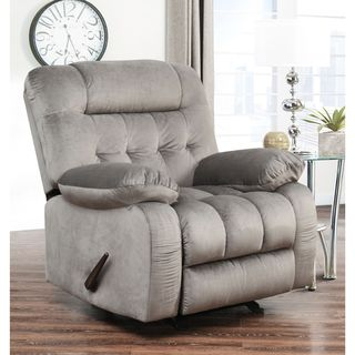ABBYSON LIVING Sparrow Padded Suede Rocker Recliner