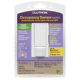 Lutron MS-OPS5MH-WH White Occupancy Sensor Switch
