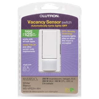 Lutron MS-VPS2H-WH White Vacancy Sensor Switch