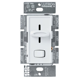 Lutron S600PH-WH White Skylark Dimmer With Preset Switch