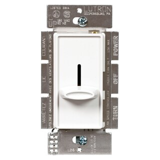 Lutron SFSQ-FH-WH Slide-To-Off Fan-Speed Control