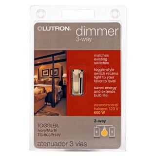 Lutron TG603PH-IV Ivory Toggler Preset 3-Way Dimmer