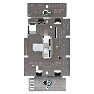 Lutron TG603PH-WH White Toggler Preset 3-Way Dimmer