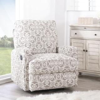 Abbyson Luca Grey Floral Swivel Glider Recliner Chair|//ak1.ostkcdn & Abbyson Recliner Chairs u0026 Rocking Recliners - Shop The Best Deals ... islam-shia.org