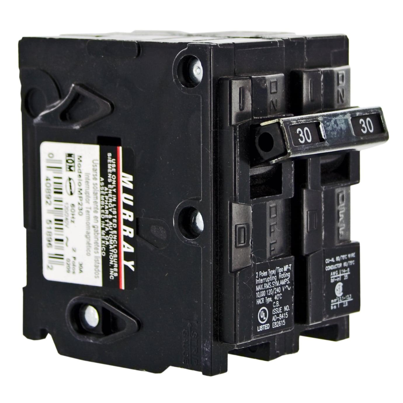 Siemens Murray MSQ Double Pole Circuit Breaker 30 amps Pl...