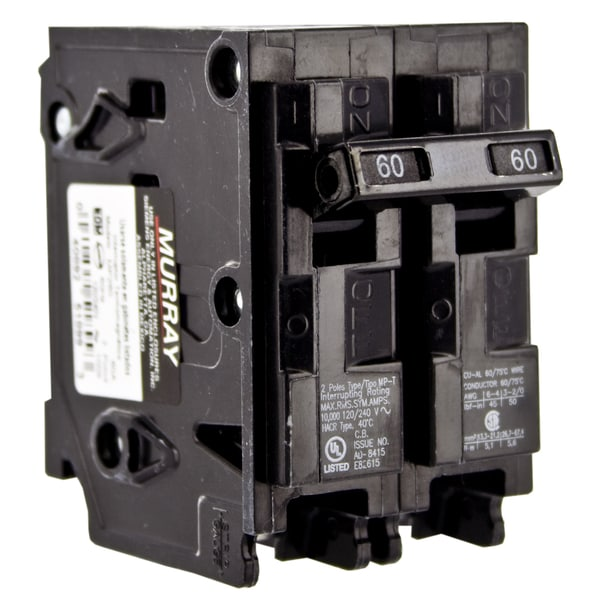 Shop Murray MP Double Pole 60 amps Circuit Breaker - Free Shipping ...