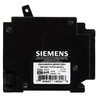 Siemens Q1515 15 Amp Dual Pole Circuit Breaker