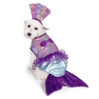 Zack & Zoey Iridescent Polyester and Acrylic Rhinestone Mermaid Dog Costume