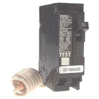Siemens QF115 15 Amp Single Pole Ground Fault Circuit Breakers